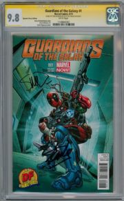 Guardians Of The Galaxy #1 DF CGC 9.8 Signature Series Signed Stan Lee McNiven Deadpool Marvel